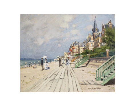 Beach At Trouville, 1870-Claude Monet Painting