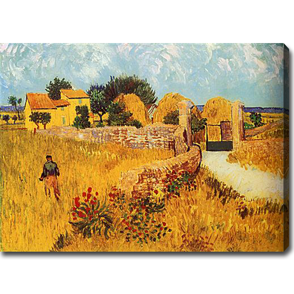 Farmhouse in Provence-Vincent Van Gogh oil on canvas